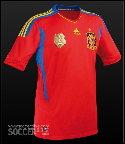 New Spain Jersey World Cup Badge - adidas Football Shirt - SoccerBible