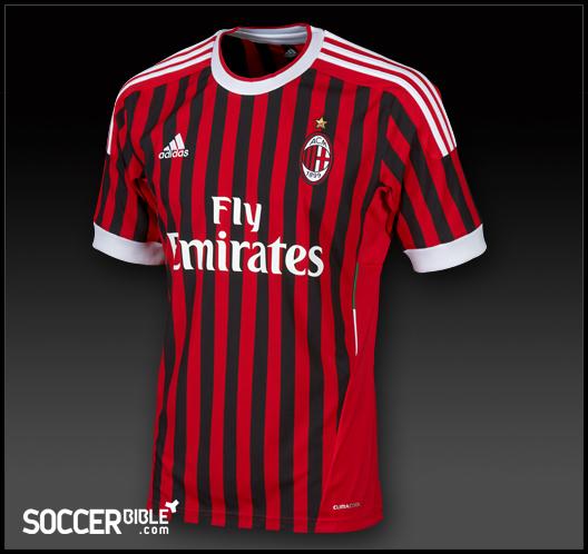 new style b3ccf 23785 AC Milan Home Shirt 2011-2012 - adidas Football Shirts ...