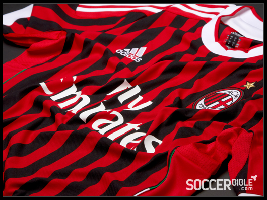 release date: 7ccd6 330bb ... adidas AC Milan 2011 12 Home Kit. With a design reminiscent of the  Rossoneri stripes of the early twentieth century, adidas have re-designed  the world ...