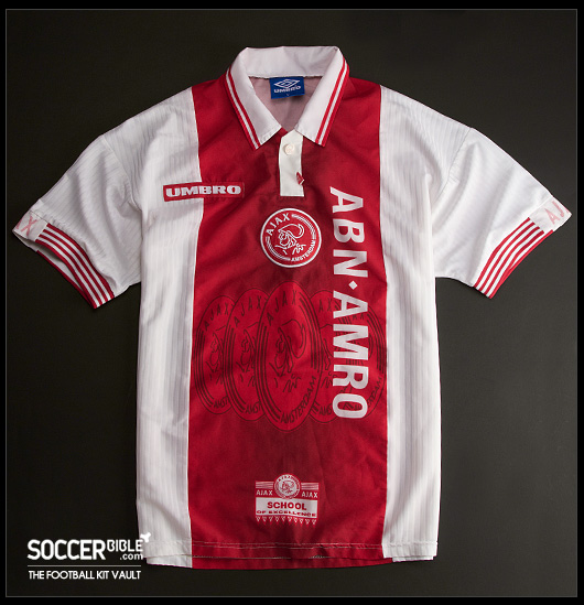 best service b170d a2b9c Ajax 1997-98 Home Shirt - Kit Vault - SoccerBible