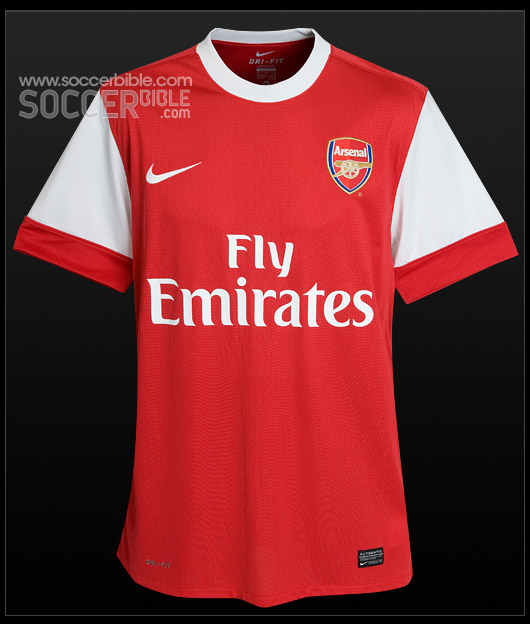 best website 1c743 fd68b Arsenal Home 10/11 - Nike Football Shirt - SoccerBible