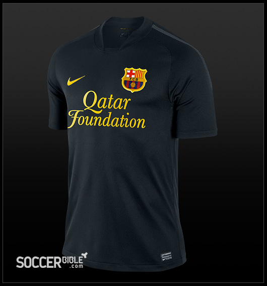 1049a118caf The new Barcelona 11/12 Nike Away Kit is the uniform that the newly crowned  La Liga champions will wear on their travels next season.