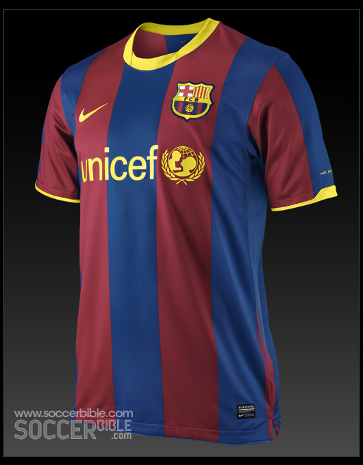 381cacaccbd The Barcelona Home Football Kit 10 11 focuses around the raw power