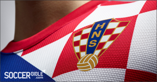f43f85a2ff8 The new Nike Croatia away jersey is blue with a section of the torso  revealing the country s famous red and white checks alongside the Croatian  crest.
