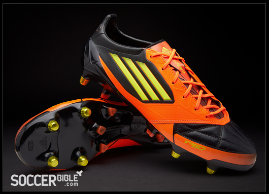 5f53a4e79d7 adidas F50 adizero miCoach Leather Football Boots -  Black Electricity Warning