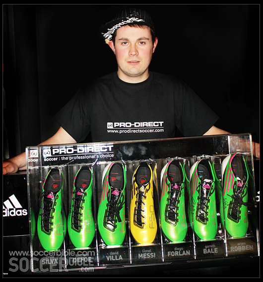 new concept 82421 ef56f Dan is the proud winner of this once in a lifetime prize, an adidas F50  adizero collector s case featuring ...