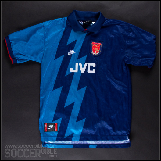 quality design e7410 2adc8 Arsenal Away Shirt 1995/96 - Kit Vault - SoccerBible