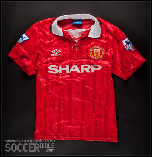 817c275f0cf ... football shirts from years gone by to our SoccerBible community. To  kick things off we take a look at the Manchester United home shirt from the  1992-93 ...