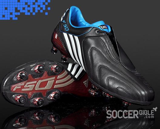 Speed Football Boots adidas F50i BlackWhiteCyan