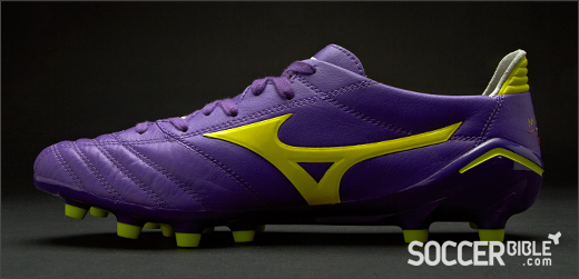 best service 87b67 bb0fd Soccer Cleats   Mizuno Morelia Neo - Purple Yellow White - SoccerBible.
