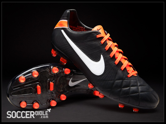 90fe925c95fb Nike Tiempo Legend IV Elite Football Boots - Black White Orange -  SoccerBible.