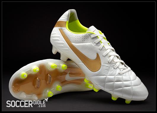 more photos 20dbc 83bb4 Nike Tiempo Legend IV Football Boots - White/Gold/Volt ...
