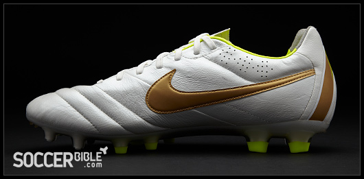 more photos f4578 950a5 Nike Tiempo Legend IV Football Boots - White/Gold/Volt ...