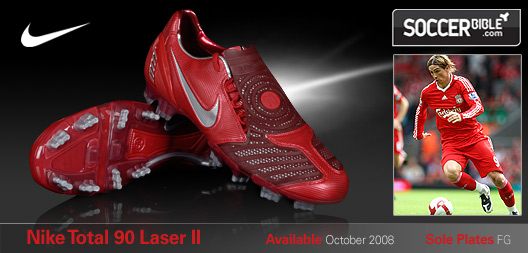 Power Football Boots - Nike Total 90 Laser II - Varsity Red ...