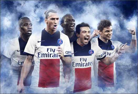 PSG Unveil 2013 14 Nike Away Shirt French Champions Reveal New Away Jersey.  French Champions Paris Saint-Germain ... 0606818ea