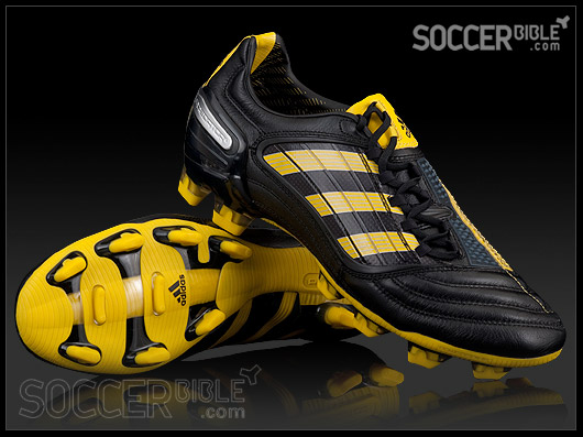 6567ceb8a Unveiling the brand new adidas Predator X colourway for the World Cup in  South Africa! A traditional black leather boot complimented with a Sun  yellow ...