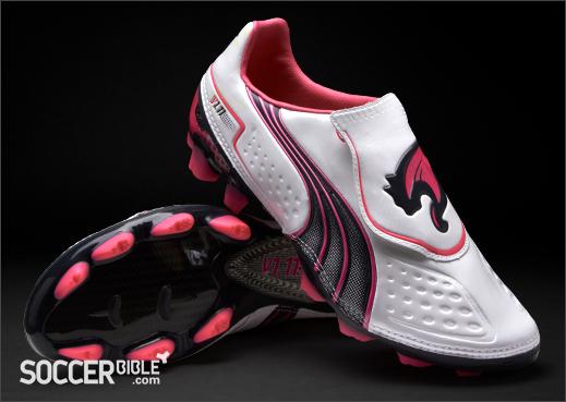 size 40 28df2 1b9ff Puma v1.11 Football Boots - White Navy Pink