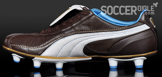 buy cheap ee7b9 5360e The brown leather of the special edition Puma King XL Italia football boots  is a full grain super-soft material. The soft leather upper has been a  feature ...