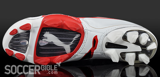 fc587255cac1 Speed Football Boots - Puma v1.08 K Leather White Puma Red - 17 06 ...