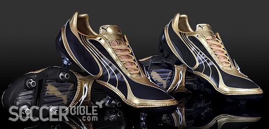 917c94179cf1 Speed Football Boots - Puma v1.08 Gold Black White - SoccerBible