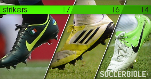 faf1c6e5b474 ... comes to putting the ball in the back of the net Premier League  strikers are torn between four boots. Nike and adidas top the charts once  again as their ...