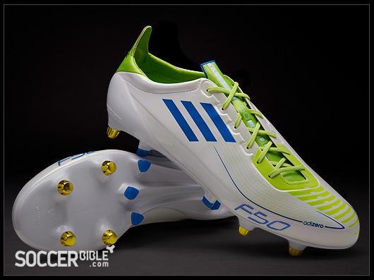 adidas F50 adizero Football Boots - White Blue Slime - SoccerBible 2e7768d21d
