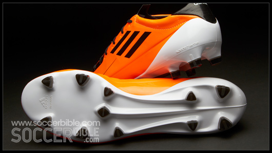 60ff11aba The FG plate features the innovative triangular Traxion studs bespoke to the  adizero range, placed at strategic positions across the sole unit to aid ...