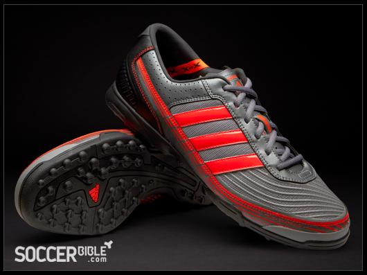 brand new 716b0 d8265 adidas adi5 Turf Football Trainers - Grey/Red/Black ...
