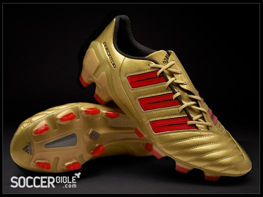 arrives 62328 b0cda adidas adiPower DB Predator Football Boots - GoldRedBlack