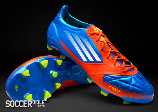 outlet store 27f8b 7dc08 adidas F50 adizero miCoach Leather Football Boots - Blue White Energy