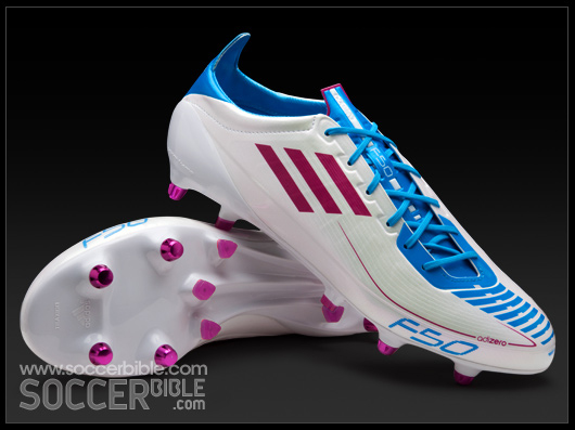 competitive price e5dfd 3ab84 adidas F50 adizero Football Boots - White Pink Cyan