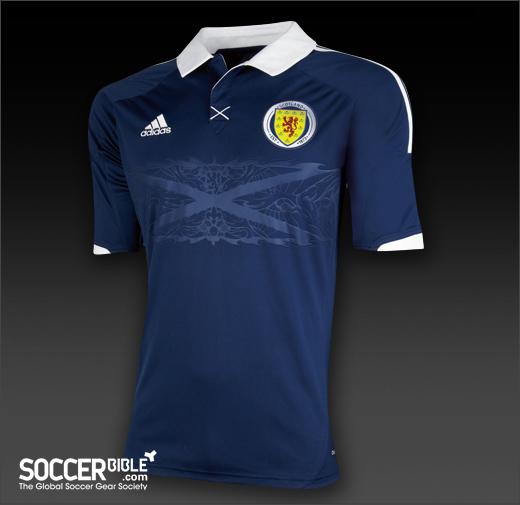 Scotland Home Kit 2012-13 - adidas football shirt - SoccerBible