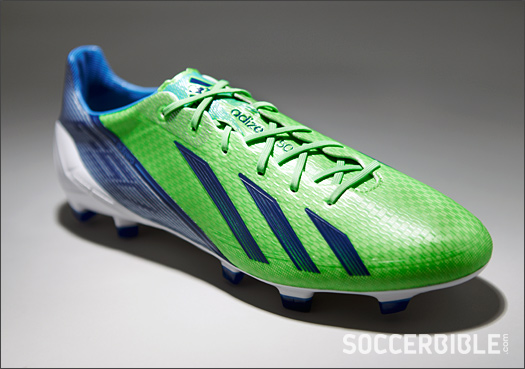 08cb0160b adidas adizero F50 Football Boots - Green Zest White Navy - SoccerBible