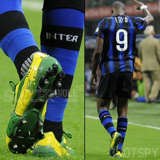 ea50b38c2593 Samuel Eto o Debuts Puma v1.10 SL Lightning Football Boots - SoccerBible