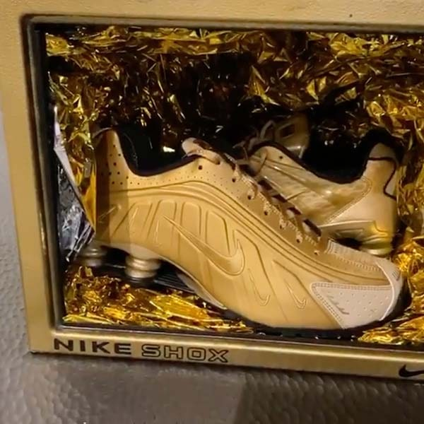 Gold Signature Nike Shox